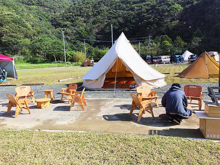 結ノ島CAMP テント泊