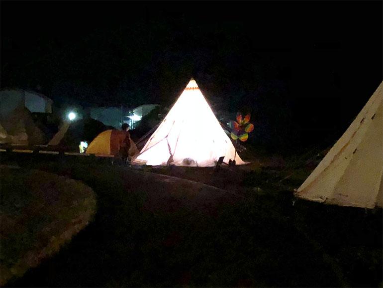 結ノ島CAMP テント泊夜