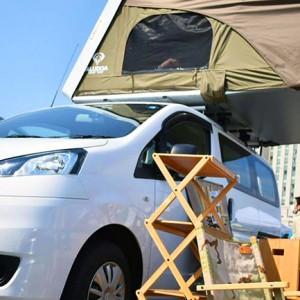 車の屋根の上でキャンプ!話題のルーフテントが面白い!
