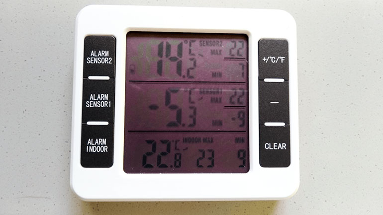 冷蔵庫・冷凍庫 温度計