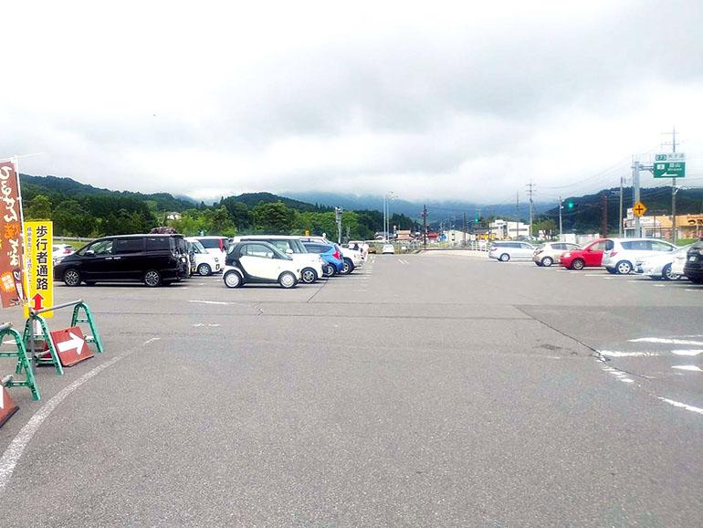 道の駅 風の家 駐車場