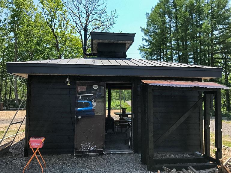 真狩焚き火キャンプ場 バーベキューハウス
