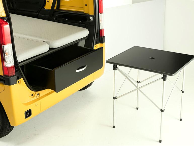 N-VAN Compo Pop Cabin リア テーブル