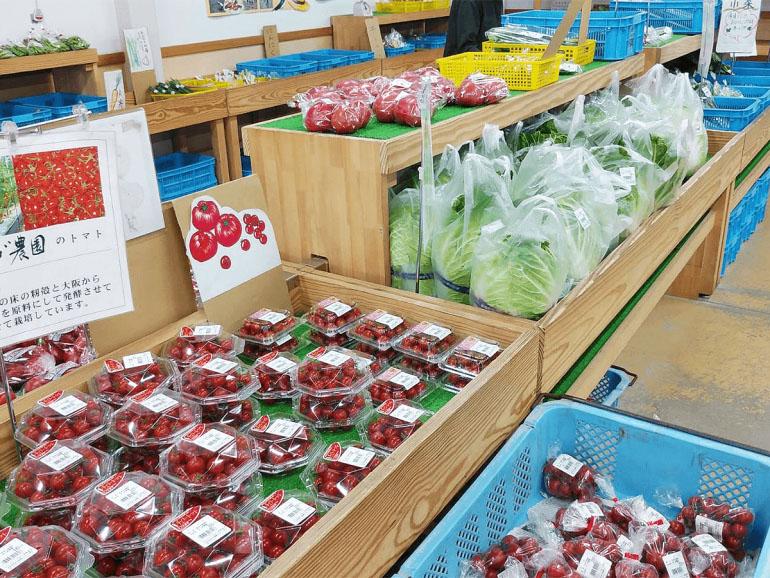 道の駅クロスロードみつぎ 野菜売り場