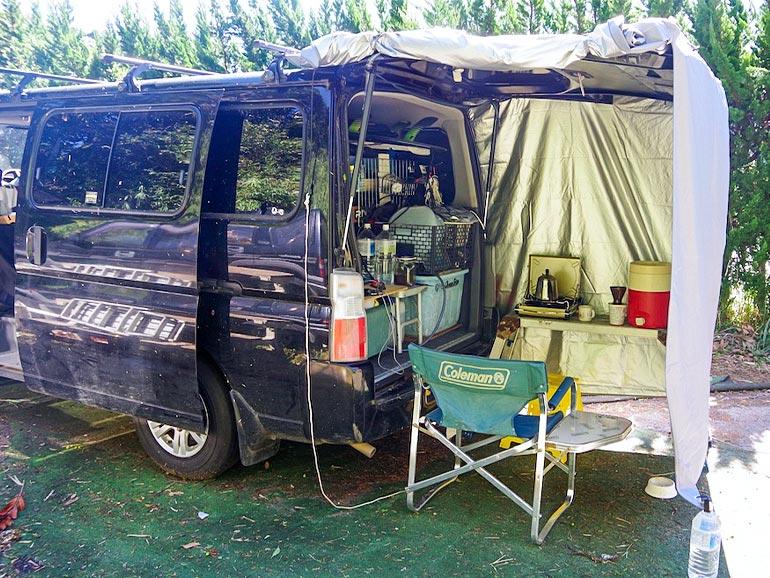 リアゲートタープ キャンプ