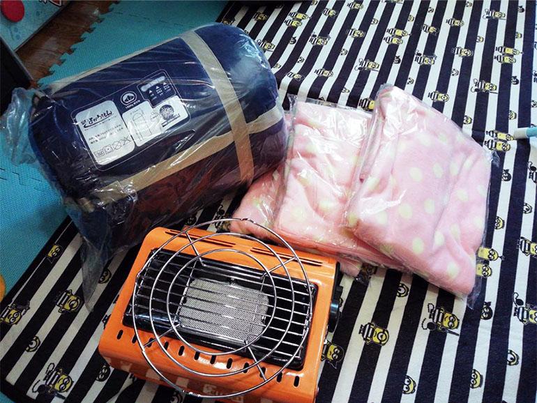 車中泊 暖房器具
