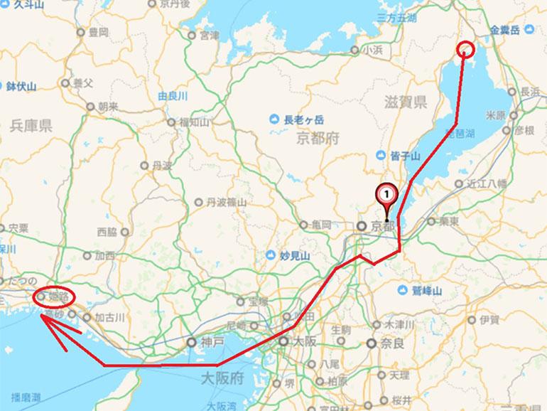 奥琵琶湖から大阪湾