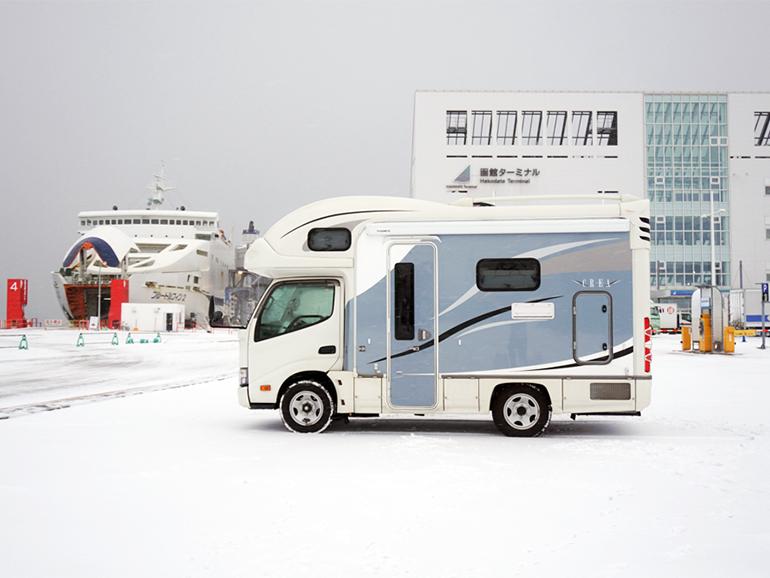 函館港 キャンピングカー