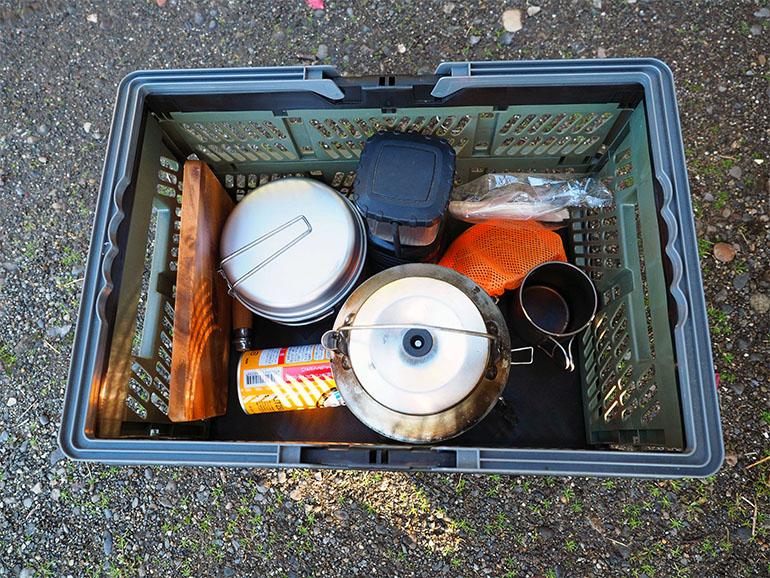 釣り道具 車内収納 コンテナ2
