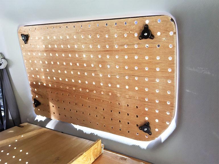 パンチングボードで作ったシェード