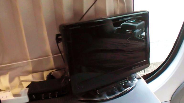 車内 テレビ