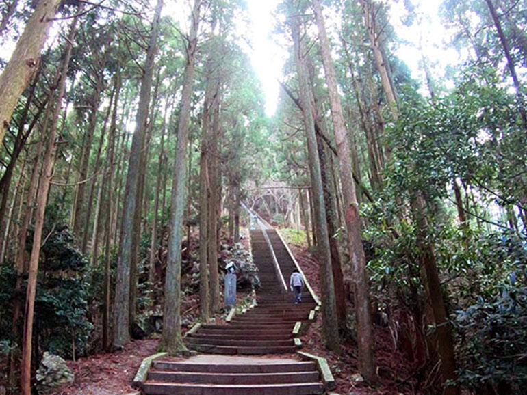 日本一の石段後半の登り
