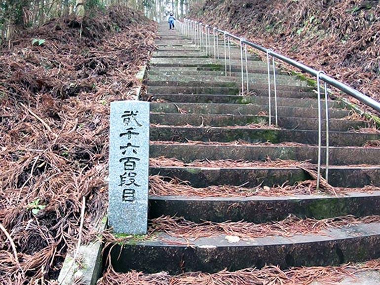 日本一の石段2600段目