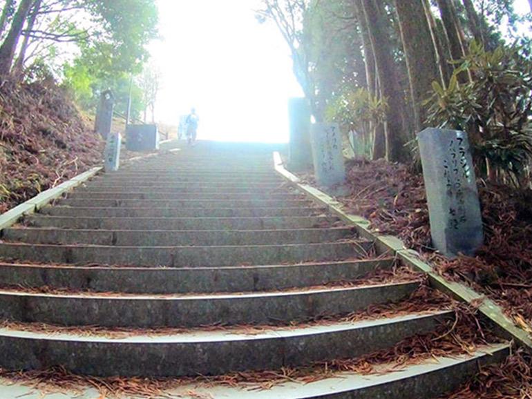 日本一の石段の頂上付近