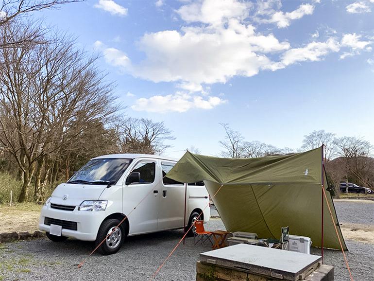 アルトピアーノでキャンプをしている風景