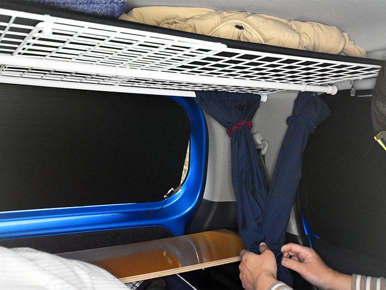 ハスラー車内 カーテン