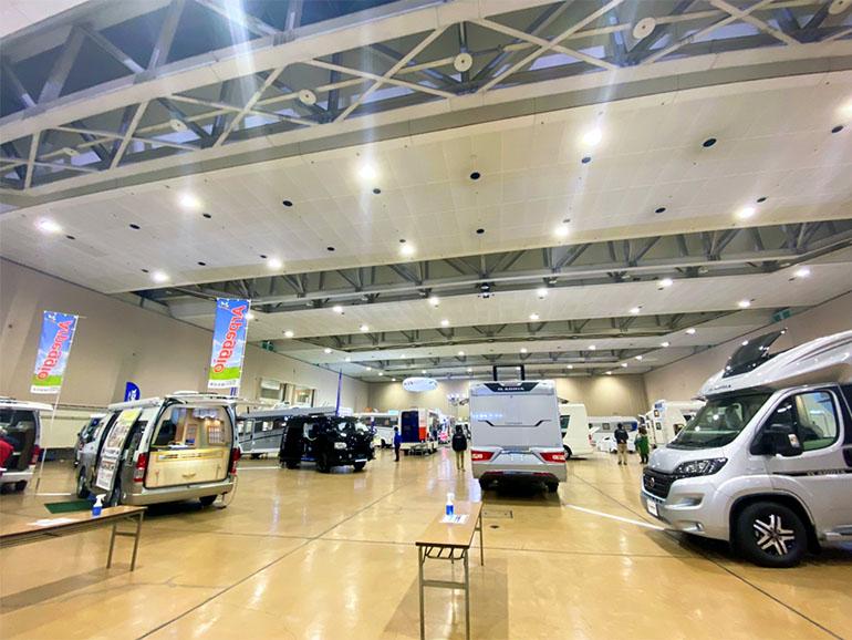 北海道キャンピングカーフェスティバル 会場の様子