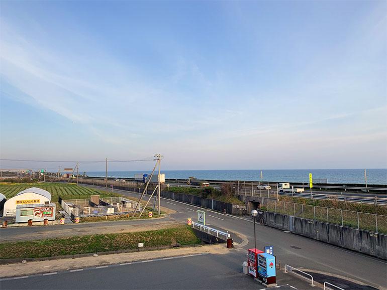 道の駅 潮見坂から見た海