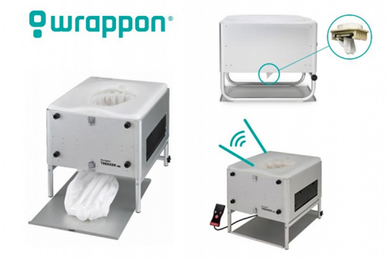 ポータブル型 自動ラップ式トイレ「ラップポン」