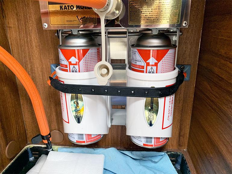 リビングストーン5 冷蔵庫ガス