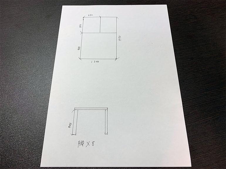 車内DIYの設計図