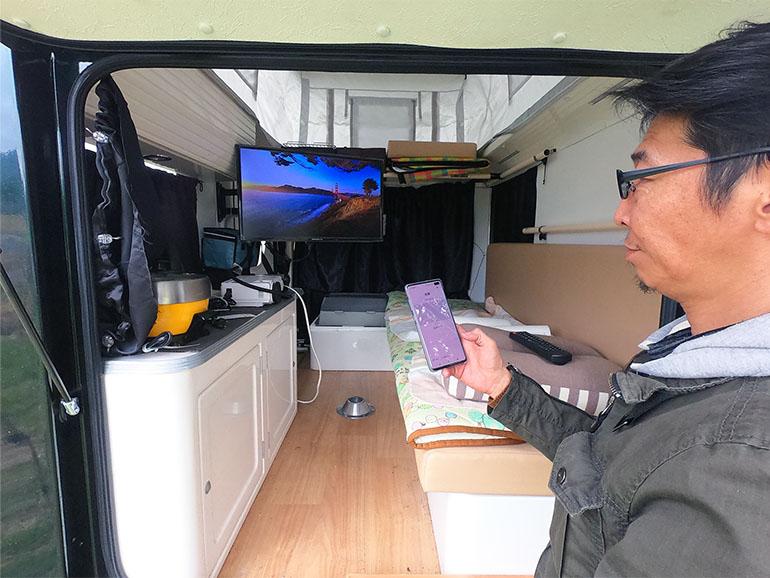 軽キャンピングカー テレビ
