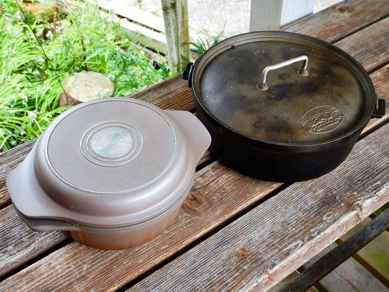 アルミのダッジオーブンと無水鍋
