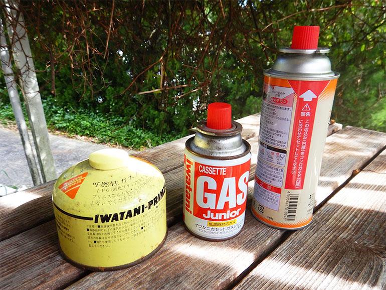 3種類のガス缶