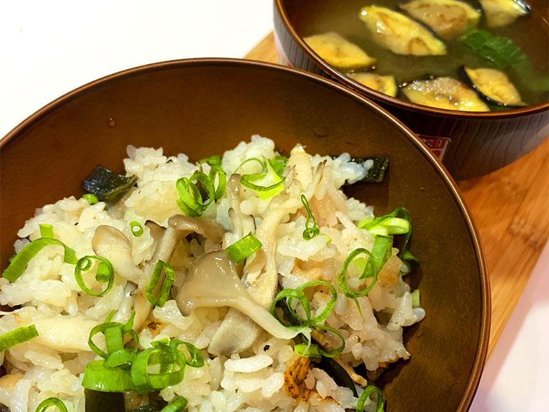 松茸風味の舞茸炊き込みご飯