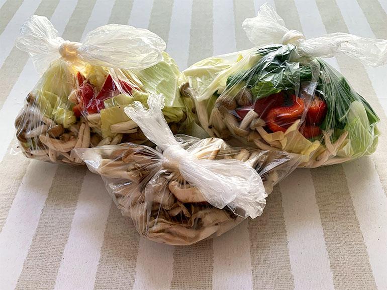 袋に入ったカット野菜