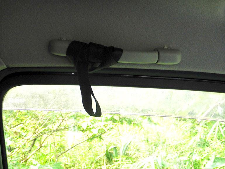 盗難対策車内側