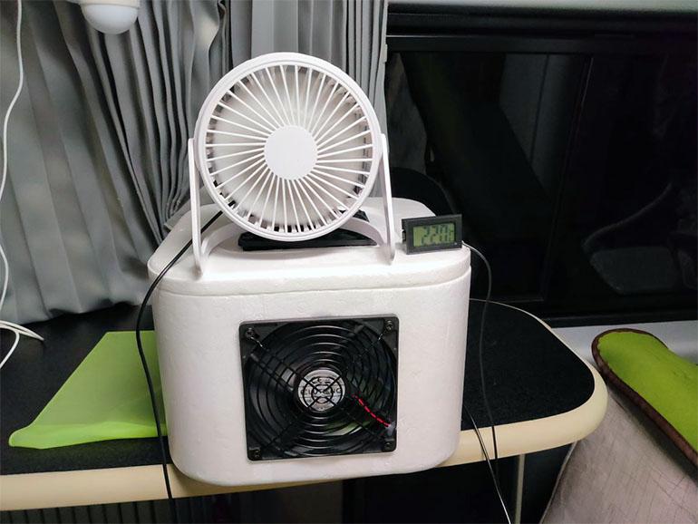 自作の冷風機