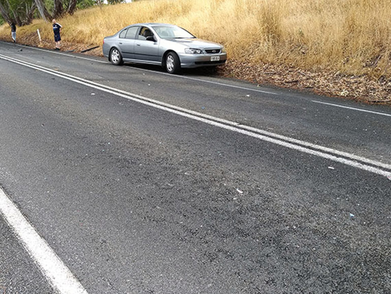 事故が起きた道路