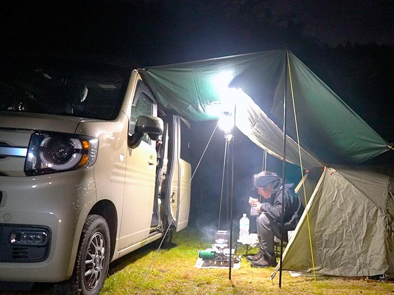 N-VAN キャンプの様子