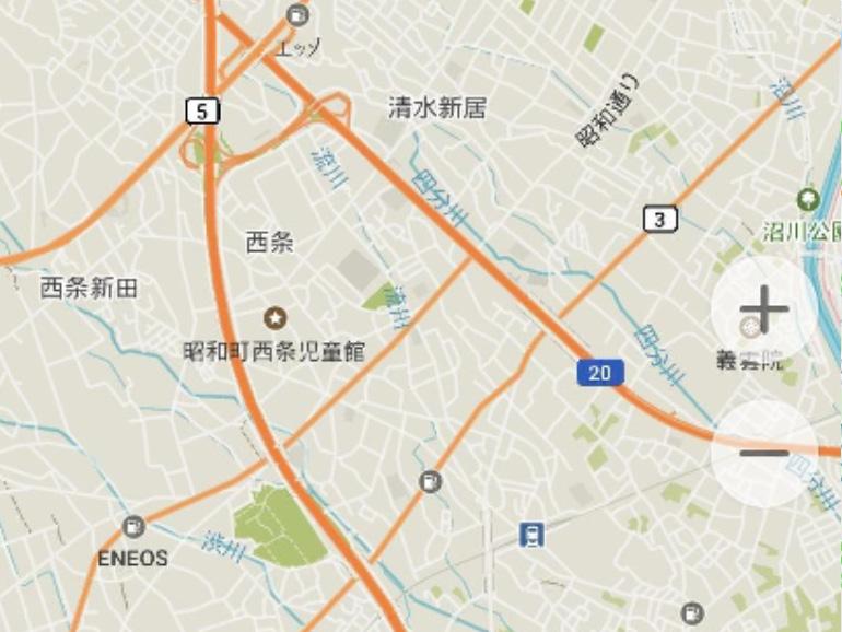 MAPS ME アプリ画面