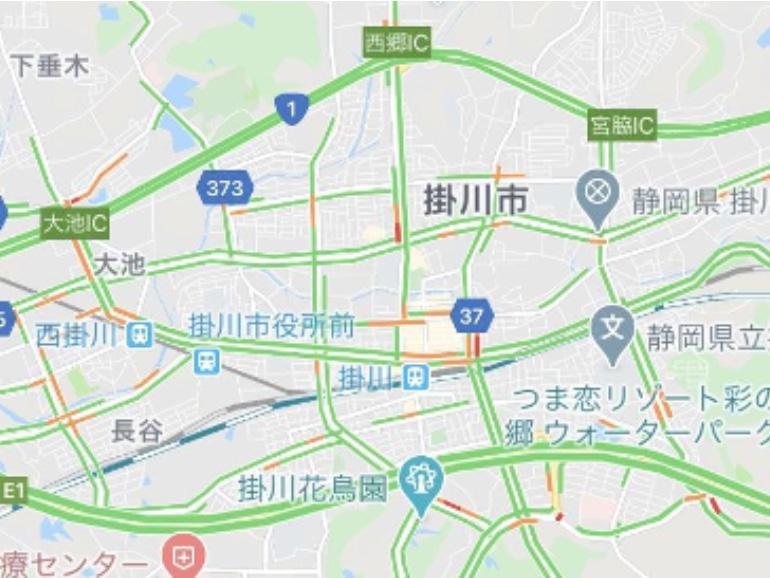 Google Map アプリ画面