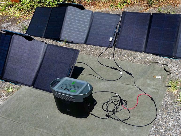 発電機とソーラーパネル