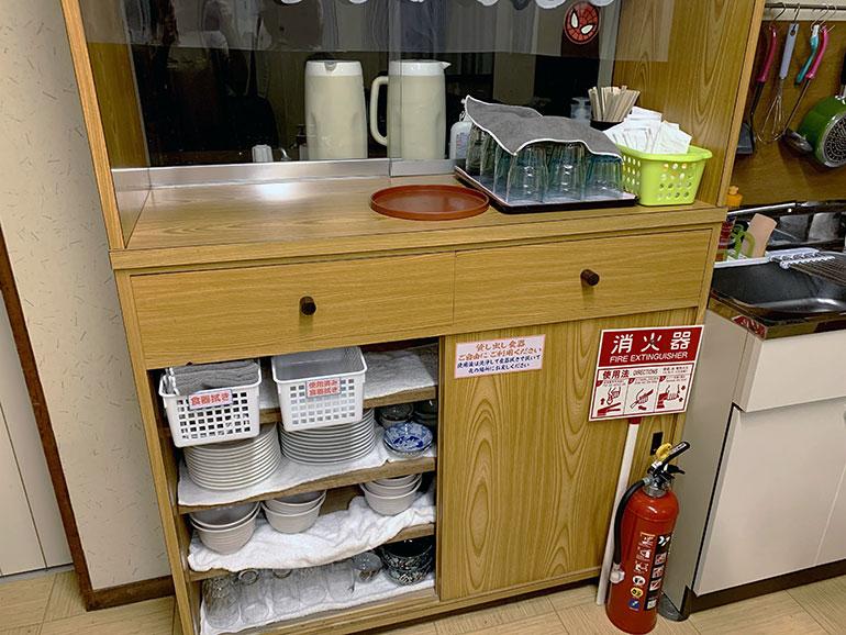 だるま屋旅館 キッチン 食器