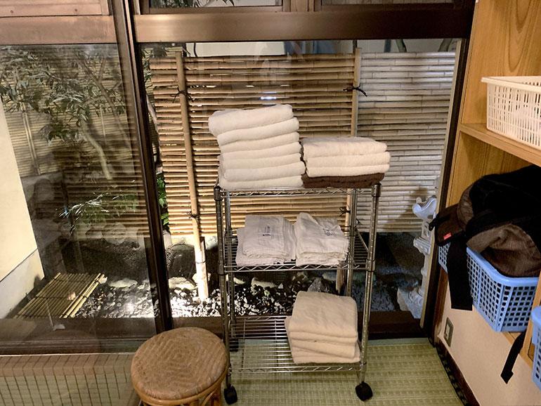 だるま屋旅館 浴場 タオル