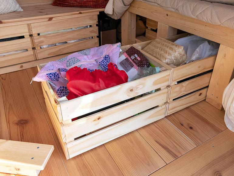 DIY ベッドした収納