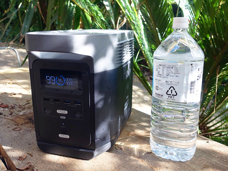 EFDELTA 1300とペットボトル