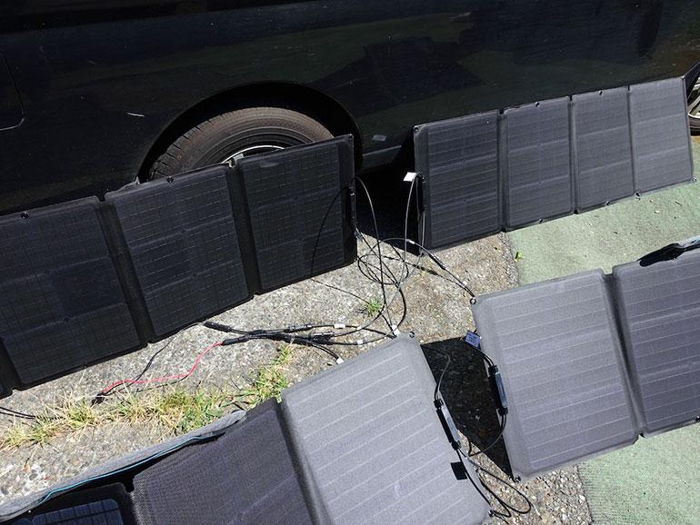 ソーラーパネル並列