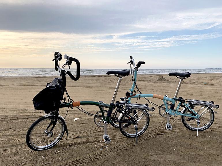千里浜 自転車