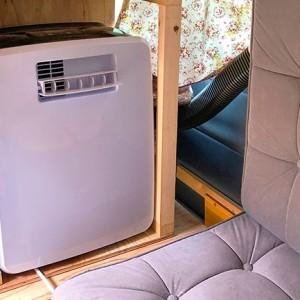バンにDIYで設置した冷房を実際に動かしてみた!