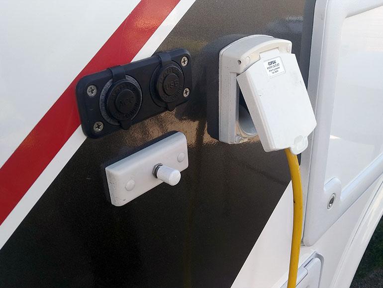 USBポートのスイッチ