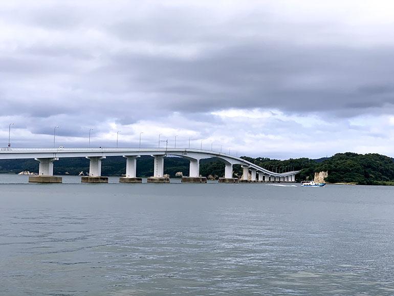 能登島大橋からの景色