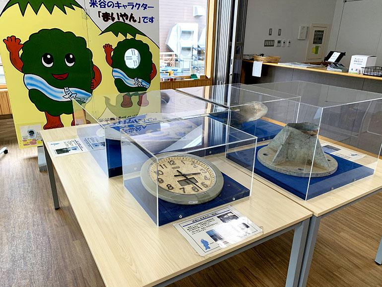 東日本大震災の写真や資料の展示
