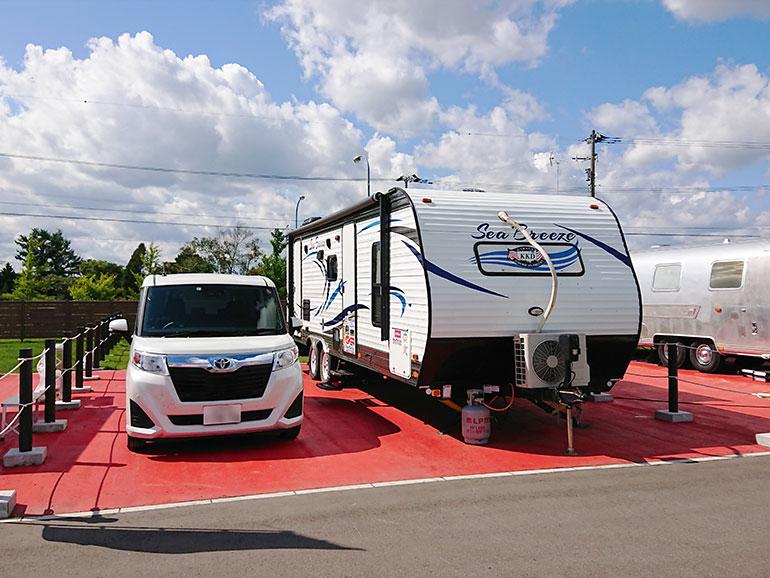 北海道観光ステーションDMO新千歳空港サービスセンター/北海道観光ステーション翼の杜 トレーラーハウスエリア