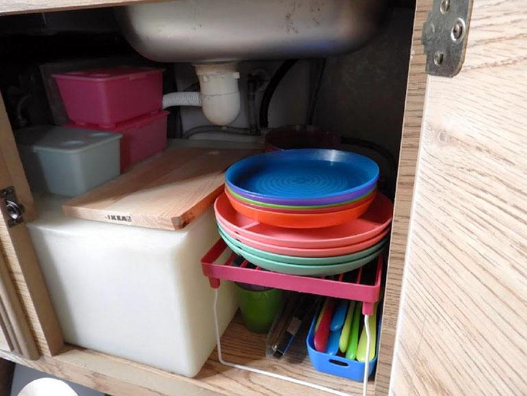 車内収納 お皿