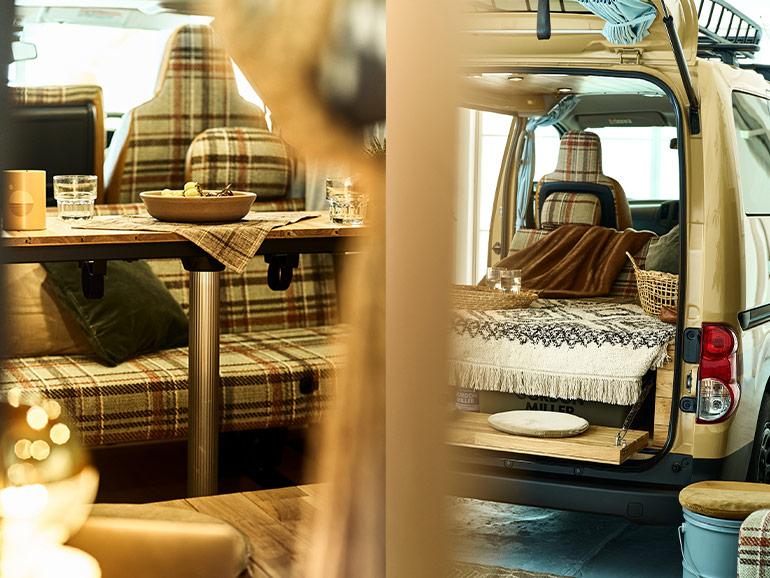 GORDON MILLER MOTORS for journal standard Furniture 車内レイアウト